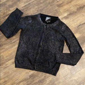 Volcom size large black and silver cardigan